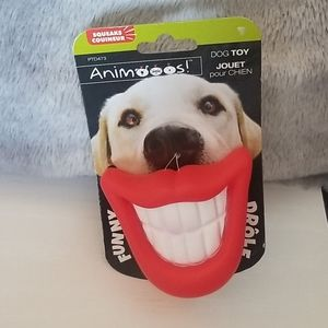 Squeaky Smiley Face Toy with Bandanas